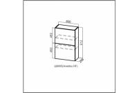 Модерн, Ш600б/912 (Aventos HF) Шкаф навесной (барный) 600