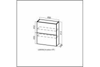Модерн, Ш800б/912 (Aventos HF) Шкаф навесной (барный) 800