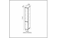 Вектор, П400г/2140 Пенал 400/2140 (глухой)