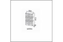 Вектор, Ш550c/912 Шкаф навесной 550/912 (со стеклом)