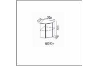 Вектор, Ш550у/720 Шкаф навесной 550/720 (угловой)