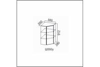 Вектор, Ш550у/912 Шкаф навесной 550/912 (угловой)
