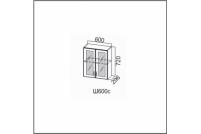 Вектор, Ш600с/720 Шкаф навесной 600/720 (со стеклом)