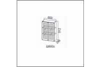 Вектор, Ш600с/912 Шкаф навесной 600/912 (со стеклом)