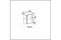 Вектор, Ш600у/720 Шкаф навесной 600/720 (угловой)