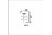 Вектор, Ш600у/912 Шкаф навесной 600/912 (угловой)