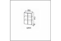 Вектор, Ш600/912 Шкаф навесной 600/912