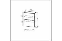 Вектор, Ш700б (Aventos HF)/912 Шкаф навесной (барный) 700 (Aventos HF)