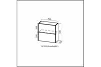Вектор, Ш700б (Aventos HF)/720 Шкаф навесной (барный) 700 (Aventos HF)