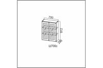 Вектор, Ш700c/912 Шкаф навесной 700/912 (со стеклом)