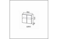 Вектор, Ш800/720 Шкаф навесной 800/720