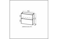 Вектор, Ш800б (Aventos HF)/720 Шкаф навесной (барный) 800 (Aventos HF)