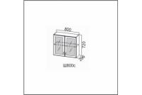 Вектор, Ш800c/720 Шкаф навесной 800/720 (со стеклом)