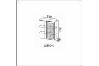 Вектор, Ш850ус/912 Шкаф навесной 850 (угловой со стеклом)