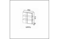 Вектор, Ш850у/912 Шкаф навесной 850 (угловой)
