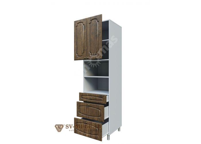 Классика Дуб антик, П600я/2140 Пенал (с ящиками), Кухни, Модульные кухни, Классика Дуб антик (12500 руб./пог.м), Стоимость 13575 рублей.