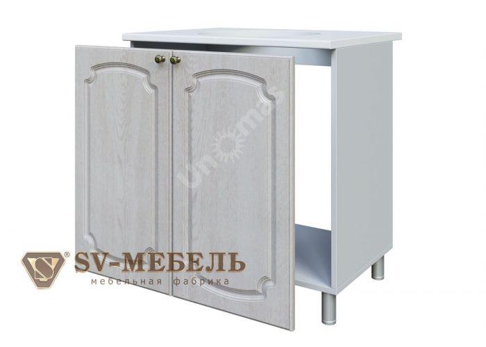 Классика Сосна белая, М800 Стол под мойку, Кухни, Модульные кухни, Белые кухни, Стоимость 6590 рублей.