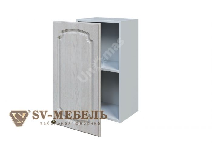 Классика Сосна белая, Ш400/720 Шкаф навесной, Кухни, Модульные кухни, Белые кухни, Стоимость 3490 рублей.