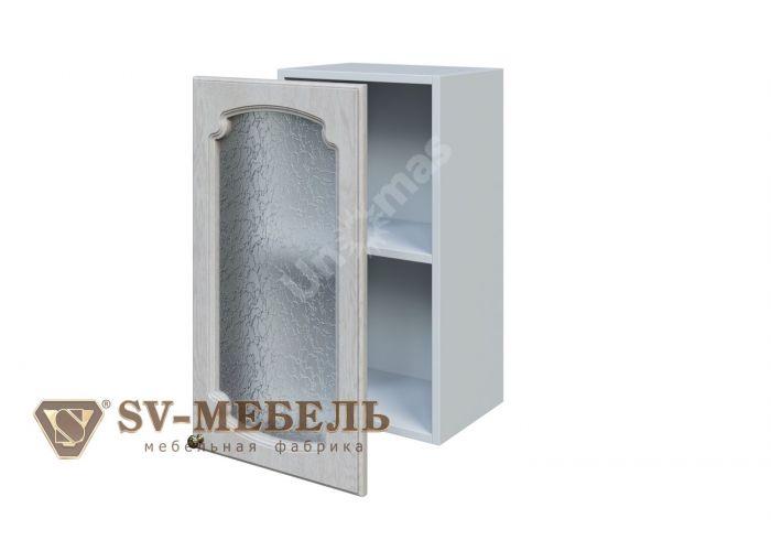 Классика Сосна белая, Ш400с/720 Шкаф навесной (со стеклом), Кухни, Модульные кухни, Белые кухни, Стоимость 4653 рублей.