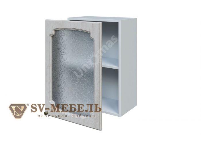 Классика Сосна белая, Ш500с/720 Шкаф навесной (со стеклом)