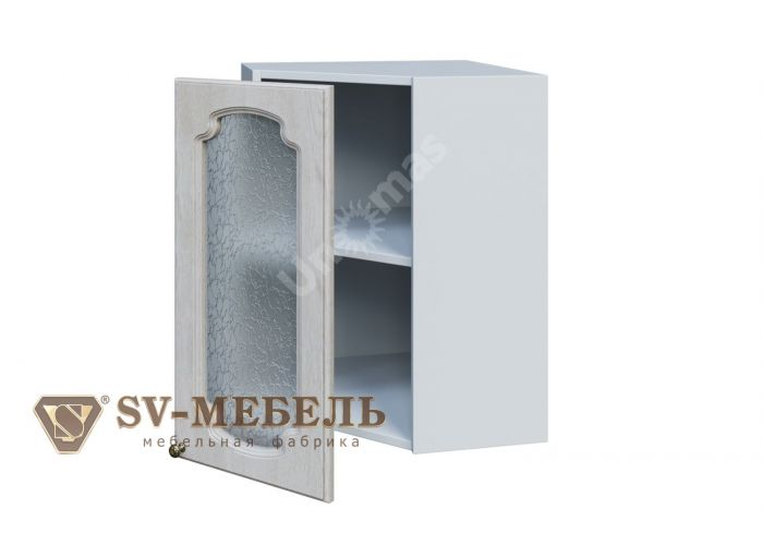 Классика Сосна белая, Ш550ус/720 Шкаф навесной угловой (со стеклом)