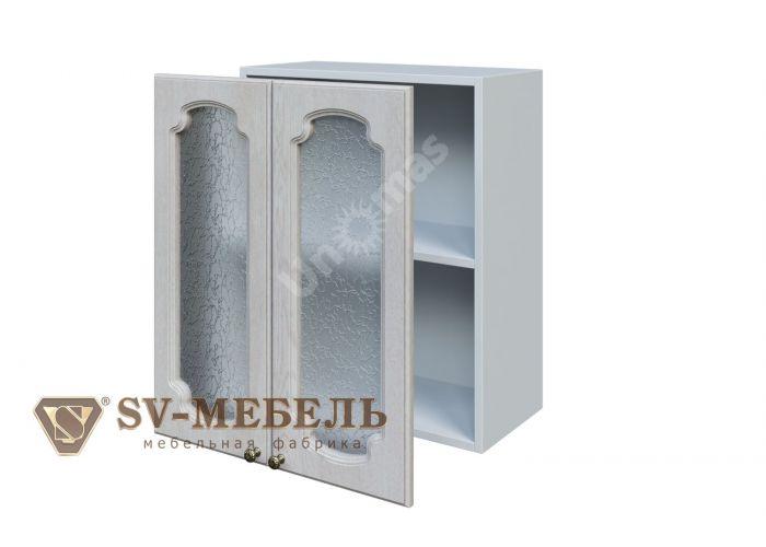 Классика Сосна белая, Ш600с/720 Шкаф навесной (со стеклом)
