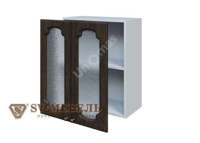 Классика Тиковое дерево, Ш600с/720 Шкаф навесной (со стеклом)