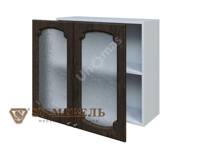 Классика Тиковое дерево, Ш800с/720 Шкаф навесной (со стеклом) , Кухни, Модульные кухни, Классика Тиковое дерево (13950 руб./пог.м), Стоимость 7213 рублей.