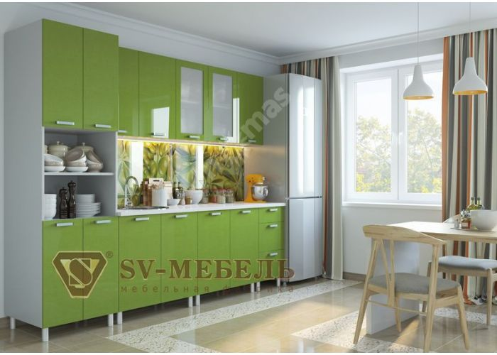 Модерн Олива, Ш300с/720 Шкаф навесной (со стеклом)