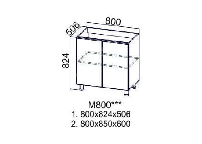 Классика Сосна белая, М800 Стол под мойку, Кухни, Модульные кухни, Белые кухни, Стоимость 6590 рублей., фото 3
