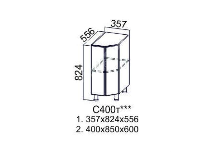 Геометрия, С400т Стол-рабочий (торцевой) левый/правый, Кухни, Модульные кухни, Геометрия Ваниль / Дуб венге (10700 руб./пог.м), Стоимость 6164 рублей., фото 2