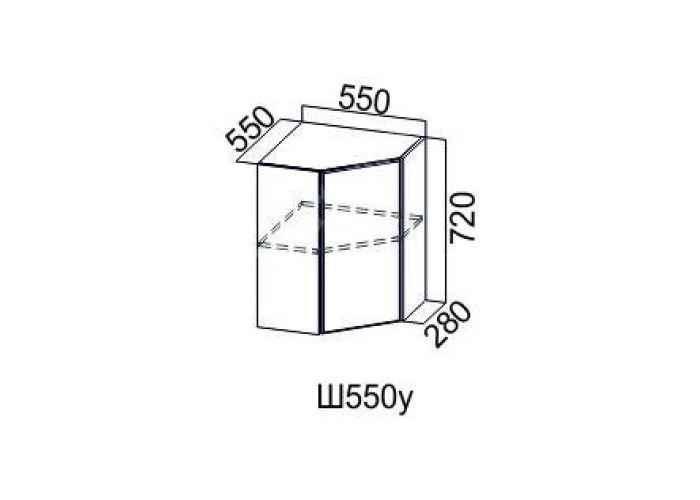 Классика Дуб монументальный, Ш550у/720 Шкаф навесной угловой, Кухни, Модульные кухни, Стоимость 5367 рублей.