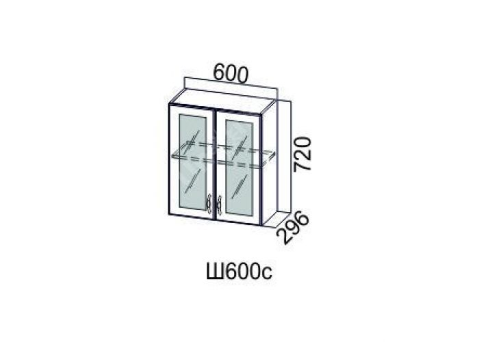 Классика Дуб монументальный, Ш600с/720 Шкаф навесной (со стеклом), Кухни, Модульные кухни, Стоимость 6745 рублей.