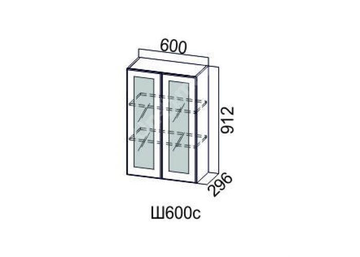 Классика Дуб антик, Ш600с/912 Шкаф навесной (со стеклом), Кухни, Модульные кухни, Классика Дуб антик (13950 руб./пог.м), Стоимость 8000 рублей.