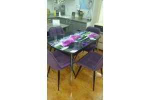 Стол Кухонный №16 опора хром+ столешница фотопечать Ц100