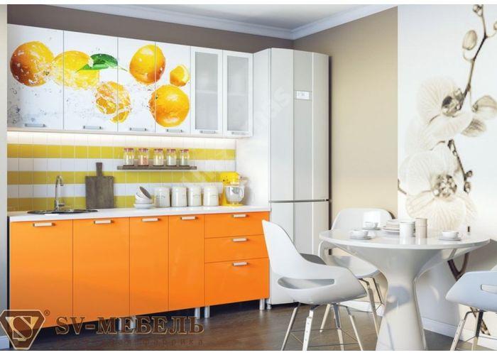 Кухня Апельсин 2 м, Кухни, Модульные кухни, Апельсин (9900 руб./пог.м), Стоимость 19902 рублей.