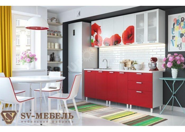 Кухня Маки 2 м, Кухни, Модульные кухни, Маки (9900 руб./пог.м), Стоимость 18669 рублей.