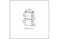 Волна, Ш500б/912 Шкаф навесной (барный) 500 (Aventos HF)