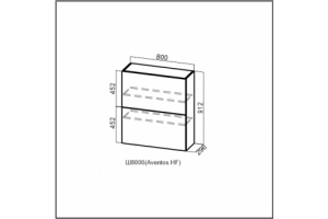 Модус, Ш800б (Aventos HF)/912 Шкаф навесной (барный)