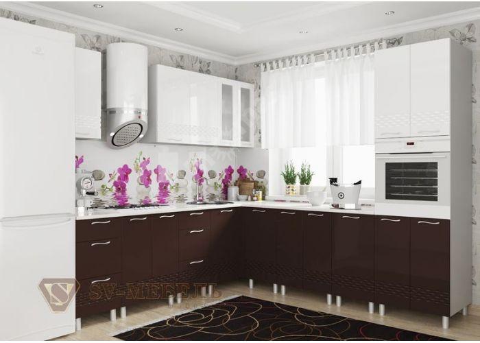 Волна Белый, Ш600ус/720 Шкаф навесной угловой (со стеклом), Кухни, Модульные кухни, Волна Белый (11600 руб./пог.м), Стоимость 6544 рублей., фото 5