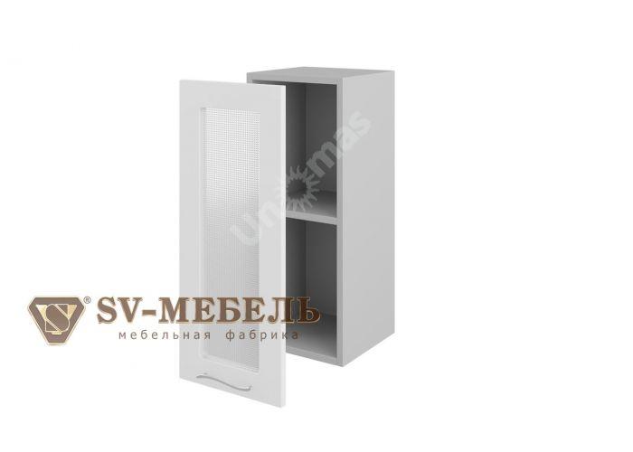 Волна Белый, Ш300с/720 Шкаф навесной (со стеклом)