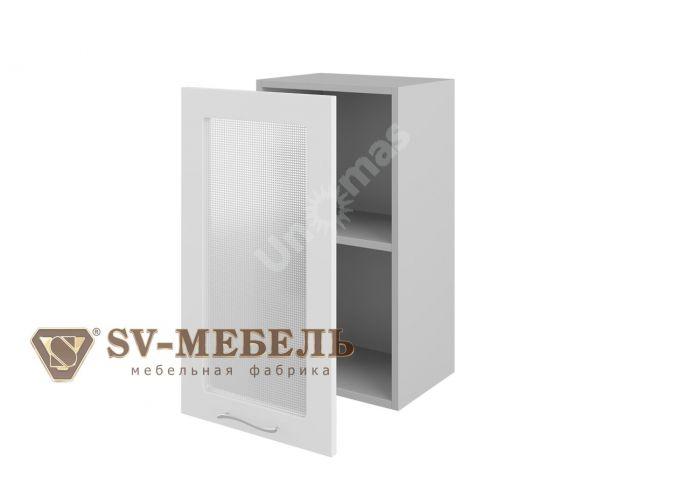 Волна Белый, Ш400с/720 Шкаф навесной (со стеклом)