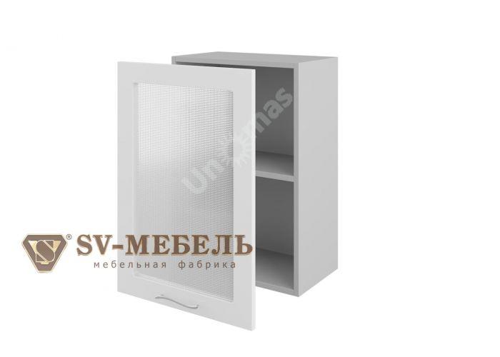 Волна Белый, Ш500с/720 Шкаф навесной (со стеклом)