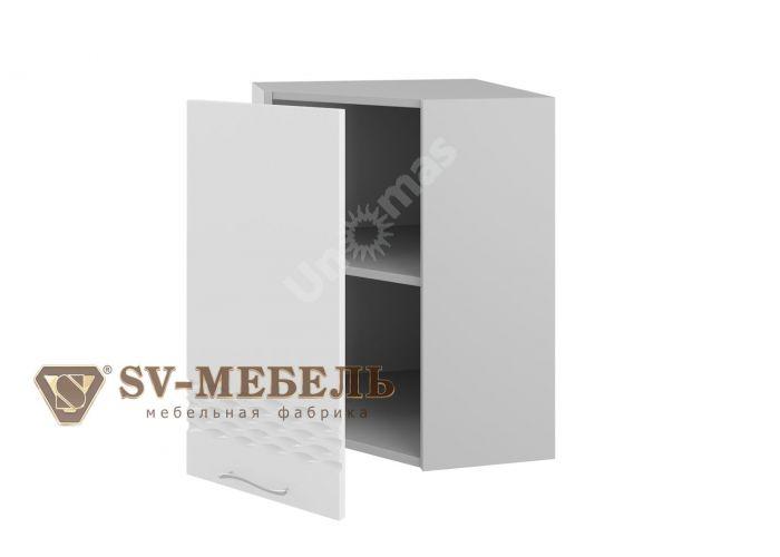 Волна Белый, Ш550у/720 Шкаф навесной угловой, Кухни, Модульные кухни, Волна Белый (10080 руб./пог.м), Стоимость 4471 рублей.