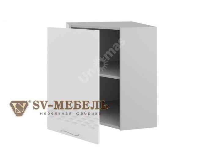Волна Белый, Ш600у/720 Шкаф навесной угловой