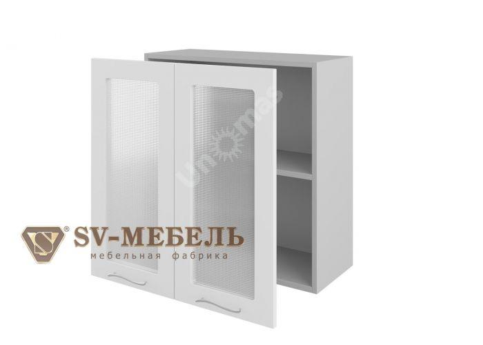 Волна Белый, Ш700с/720 Шкаф навесной (со стеклом)