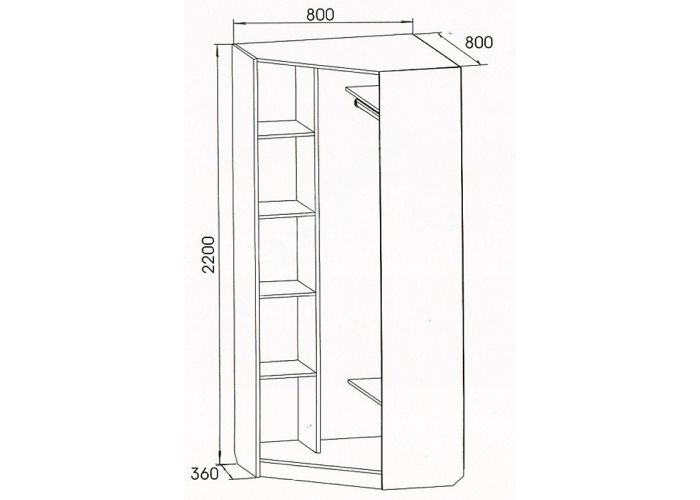 Вега, ВМ-07 шкаф угловой, Гостиные, Модульные гостиные системы, Вега, Стоимость 9572 рублей., фото 2