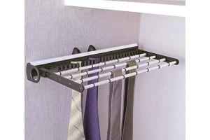 Держатель для галстуков выдвижной 450 мм, алюминий/серый 19-20