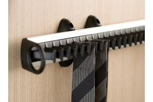 Держатель для галстуков выдвижной 450 мм, алюминий/серый, 19-30