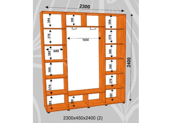 Шкаф-купе Сенатор Лакобель / 2300*450*2400 (2) мм, Шкафы-купе, Стоимость 33450 рублей., фото 2
